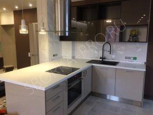 Столешница для кухни из искусственного камня Grandex P 104 Pure White