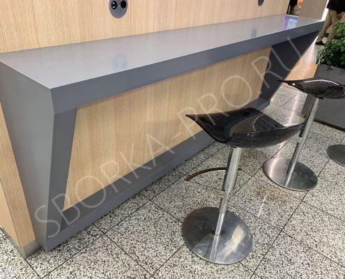 Стойка для посетителей из искусственного камня Grandex P 108 Pure gray