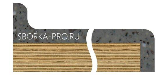 Вид плинтуса - 2. Сводчатый (интегрированный) плинтус. Высота от 12 до 40 мм.