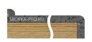 Вид плинтуса - 3. Приставной плинтус. Размер 12*12 мм. Выгнутый.