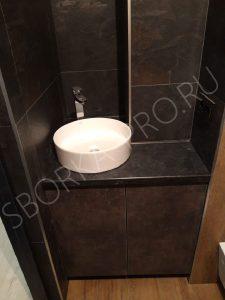 столешница под черный мрамор для ванной