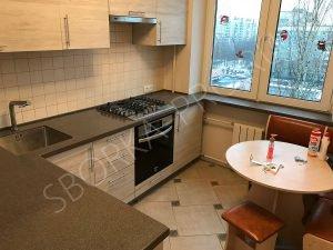 Кухонная столешница с переходом в подоконник