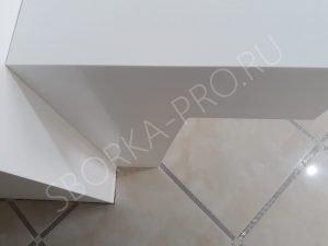 опора для столешницы из белого искусственного камня