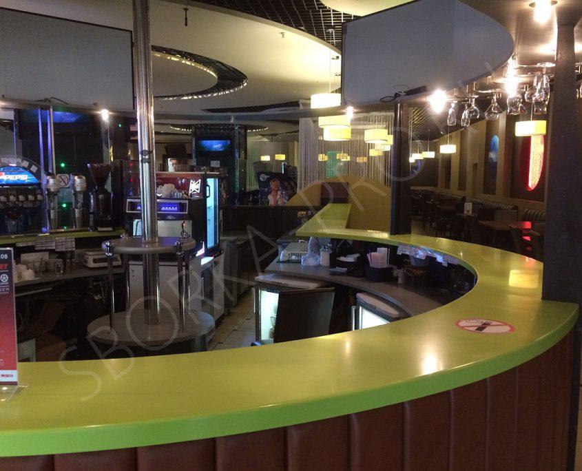 круглая барная стойка для кафе