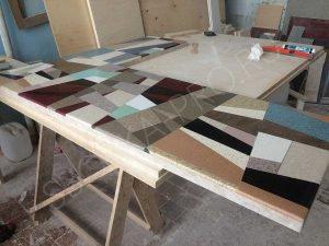 Производство рабочего стола из камня