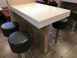 стол для посетителей ресторана KFC
