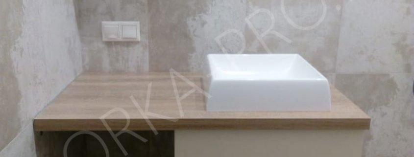 тумба в ванну со столешницей