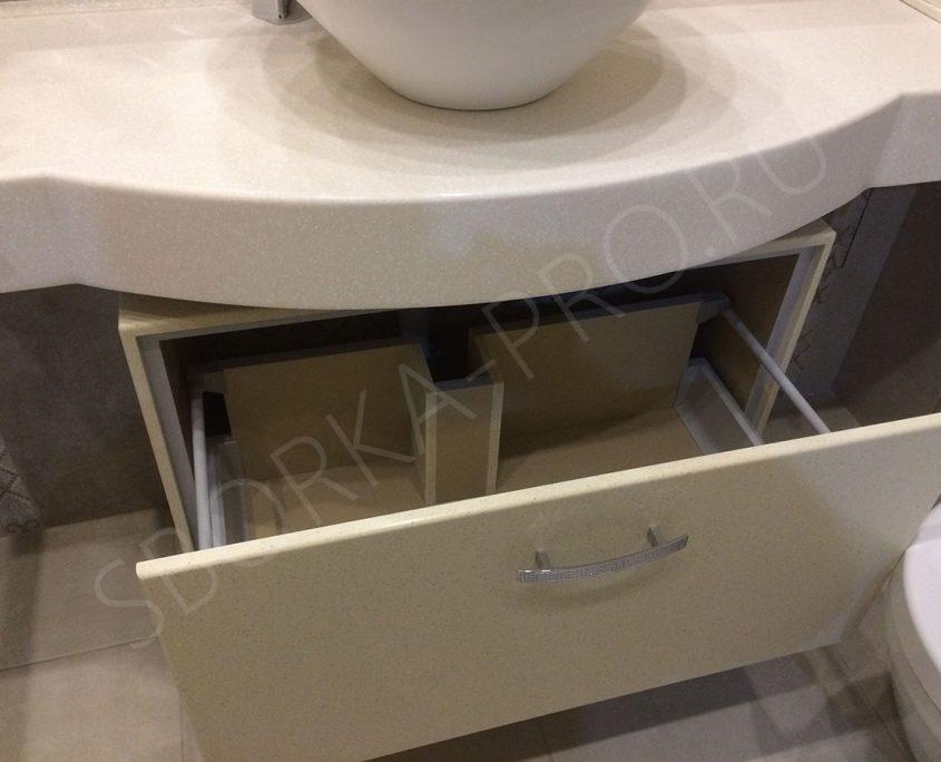 Столешница с раковиной в ванну