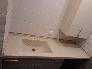столешница в ванну с интегрированной раковиной