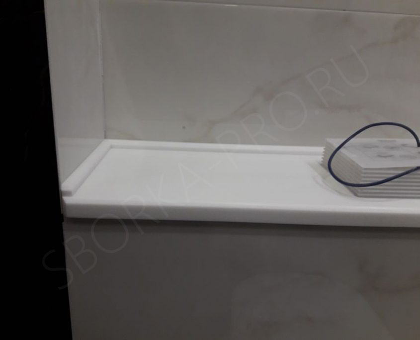 белая столешница для ванной