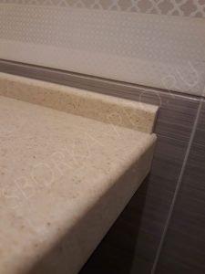 акриловый плинтус для столешницы в ванну