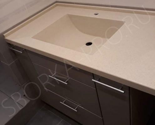 столешница с раковиной для ванной