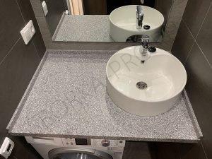 столешница в ванну с накладным умывальником