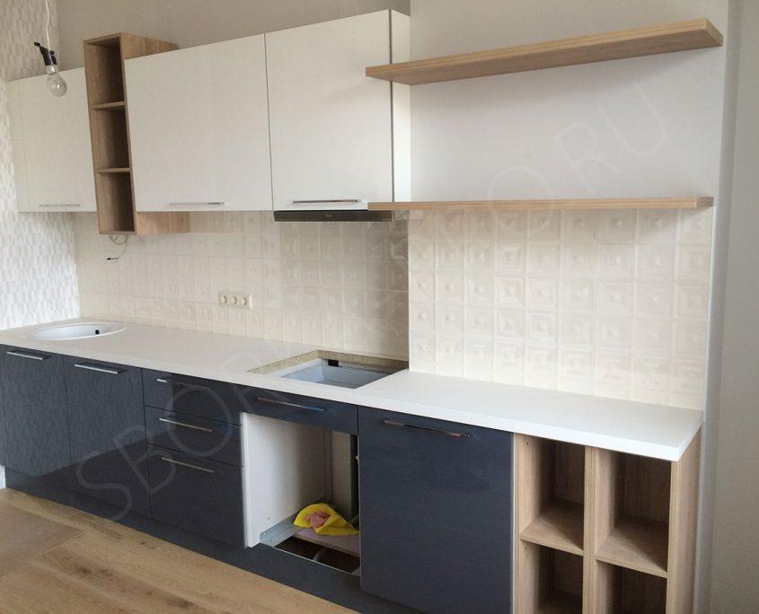 кухня два цвета