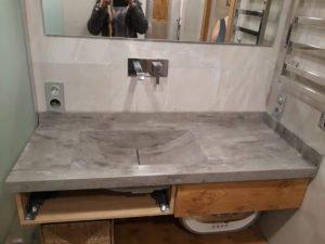 столешница в ванну из искусственного камня corian