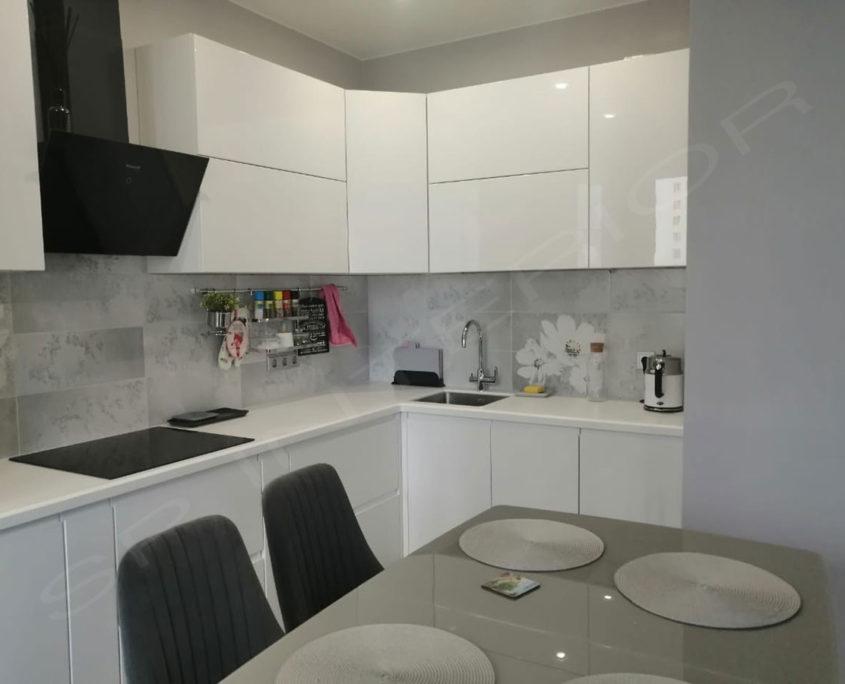 кухня МДФ эмаль белая