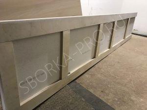 Обратная сторона кухонной столешницы из искусственного камня