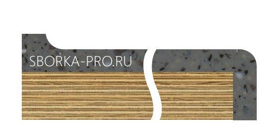Вид плинтуса - 6. Сводчатый (интегрированный) плинтус. Высота10 мм. Под плитку.