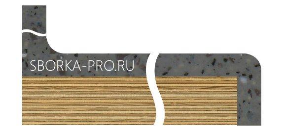 Вид плинтуса - 7. Сводчатый (интегрированный) плинтус с переходом в стеновую панель.