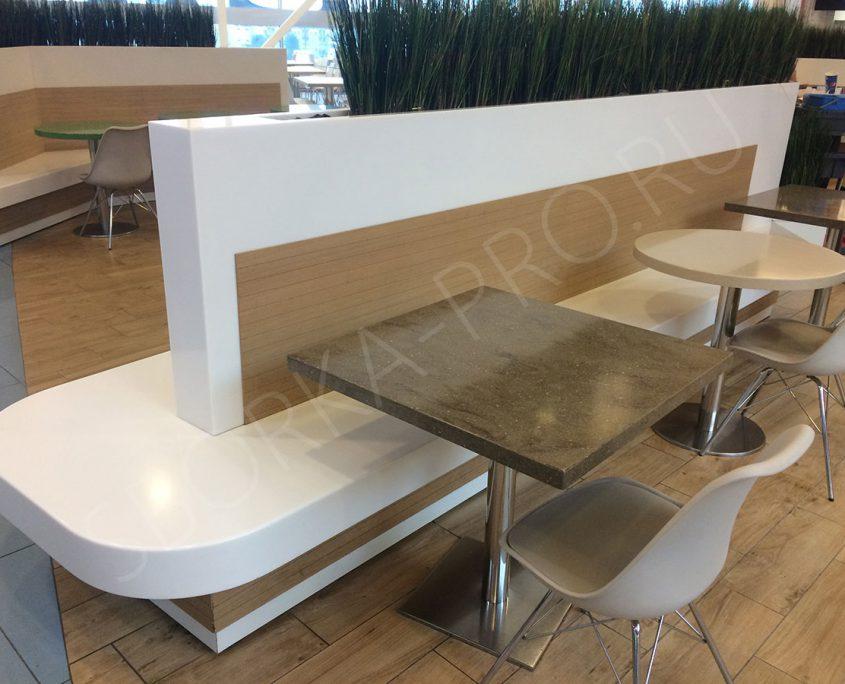 мебель для кафе из искусственного камня