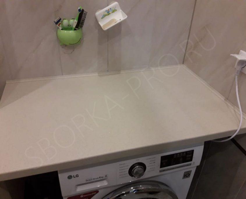 стиральная машинка в ванной под столешницу