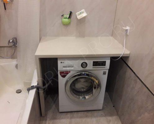 стиралка под столешницей в ванной