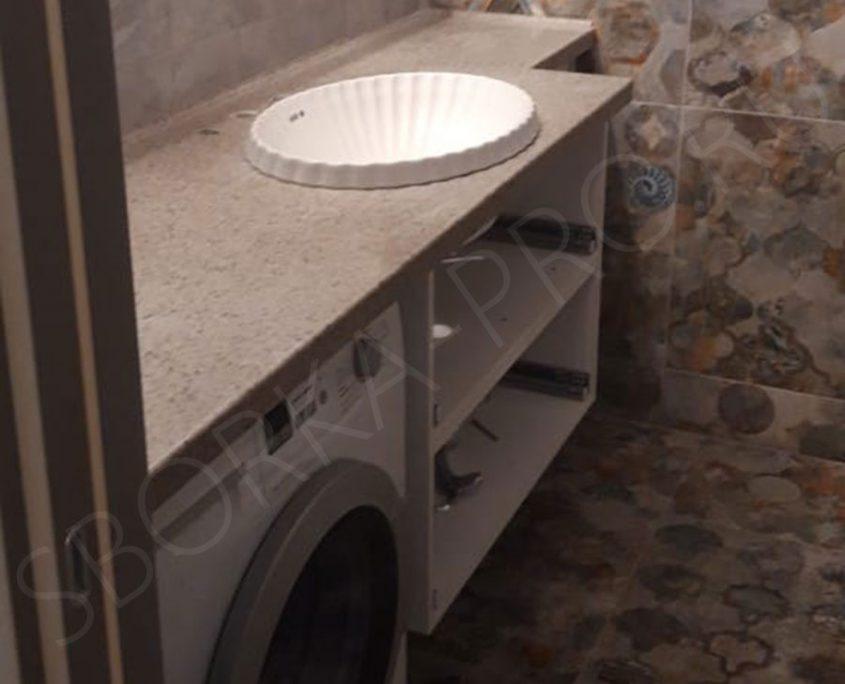столешница в ванну из искусственного камня