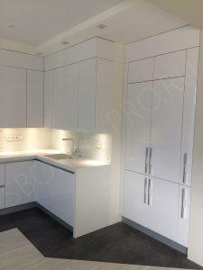 кухня белый глянец