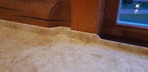 Плинтус на столешнице под мрамор