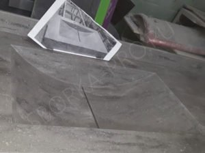 интегрированный умывальник из искусственного камня
