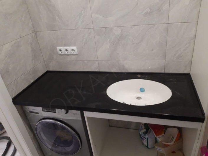 столешница для ванной с подстольным умывальником