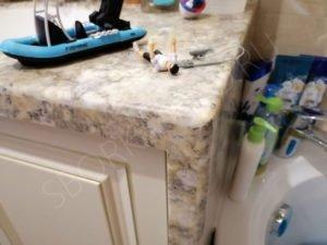искусственный камень neomarm в ванной